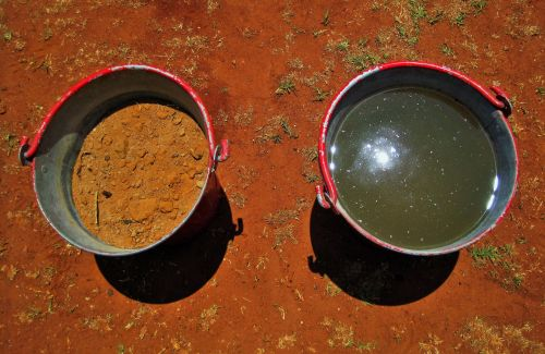 Fire Buckets With Sand And Water