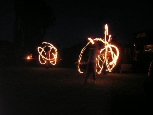 fire dancing fire acrobats