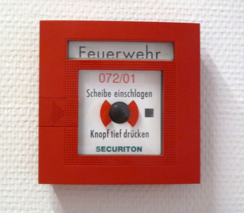 fire detector red box