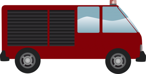 fire engine firemen van