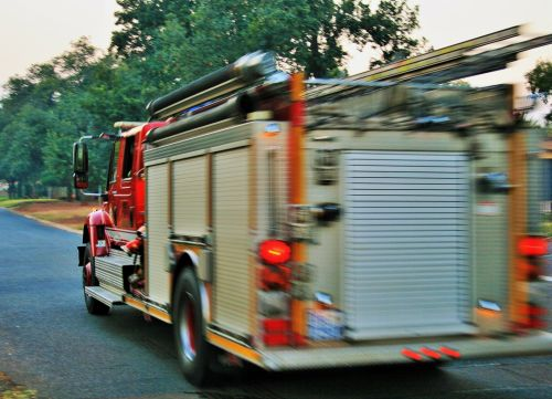 Fire Engine Speeding Away