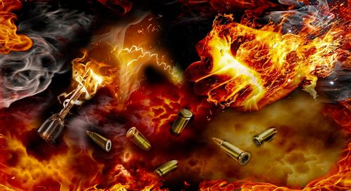 fire hand hand and cartridge fire