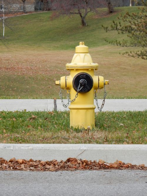 fire hydrant fire yellow