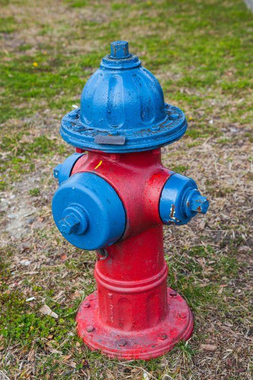 fire hydrant blue green
