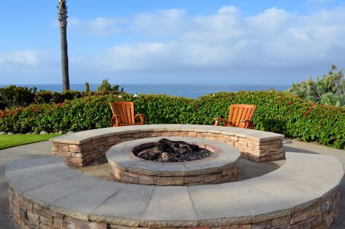 fire-pit lonely relaxation