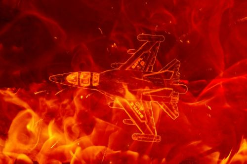 fire plane fighter plane aircraft