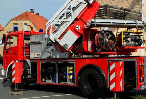 fire truck turntable ladder ladder