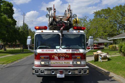 fire truck fireman green grass