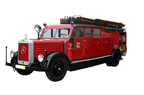 fire truck  volunteer firefighter  oldtimer