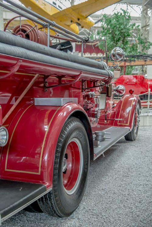 fire truck fire antique