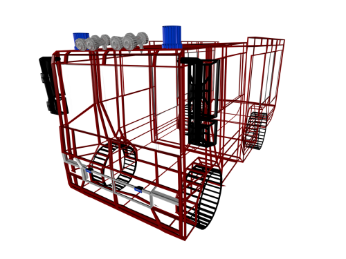 fire truck limousine scaffold