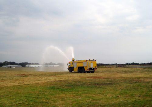 Fire Truck Spraying Water