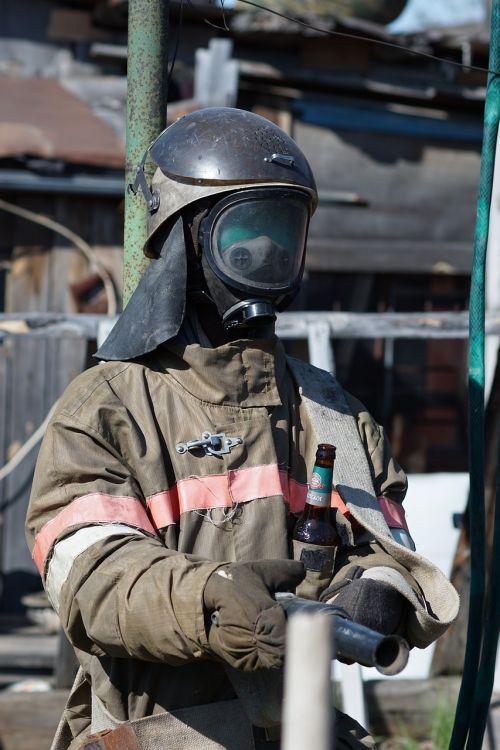firefighter beer hose