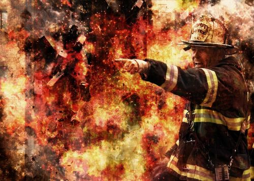 firefighter fire flame