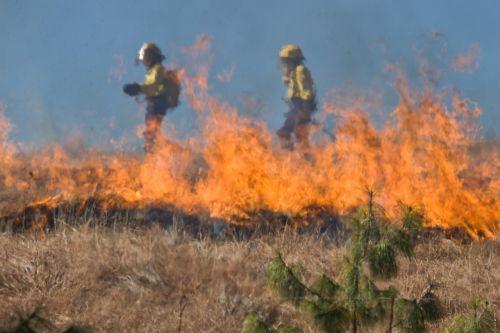 firefighter wildfire grass fire