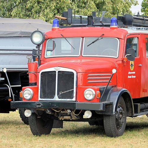 firefighter vehicle fire truck old