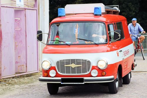 firefighter vehicle old historically