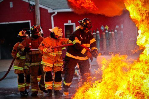 firefighters fire portrait