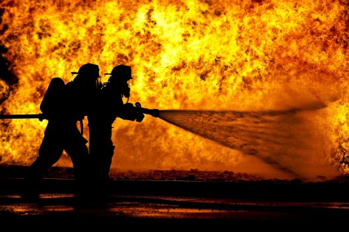 Firefighters Live Fire Training