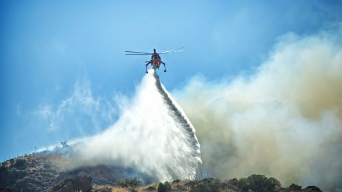 Firefighting Helicopter Fights Wild