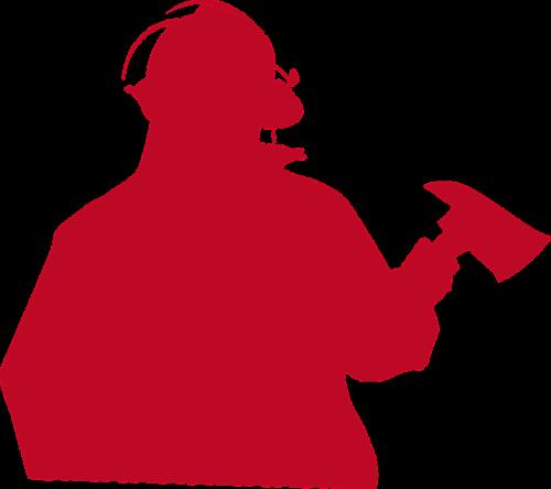 fireman firefighter silhouette