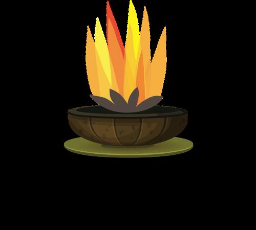 firepit garden wood-burning
