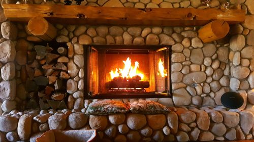 fireplace fire home
