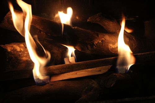 fireplace wood fire fire