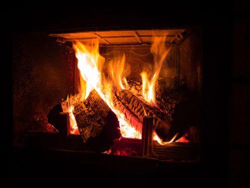fireplace fire heat