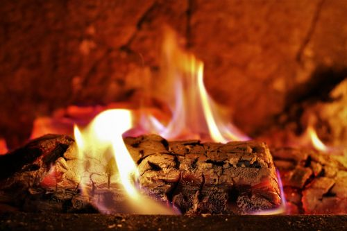 fireplace firewood wood