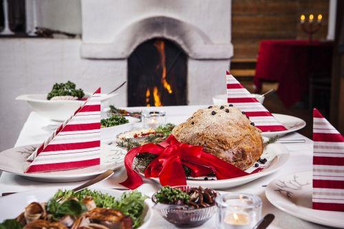 fireplace christmas christmas lunch
