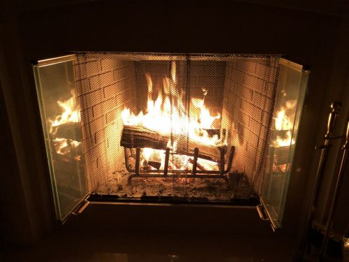 Fireplace In Spring