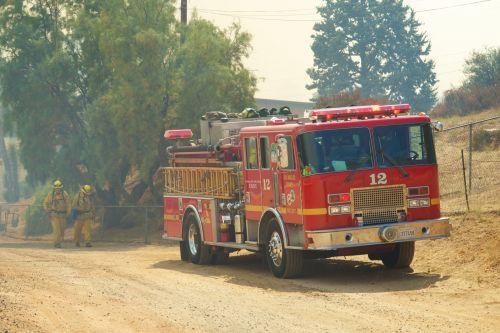 Firetruck In Thin Smoke