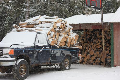 firewood pick-up wood