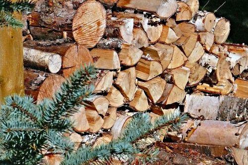 firewood stack wood