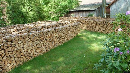 firewood holzstapel craft