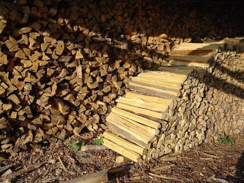 firewood wood holzstapel