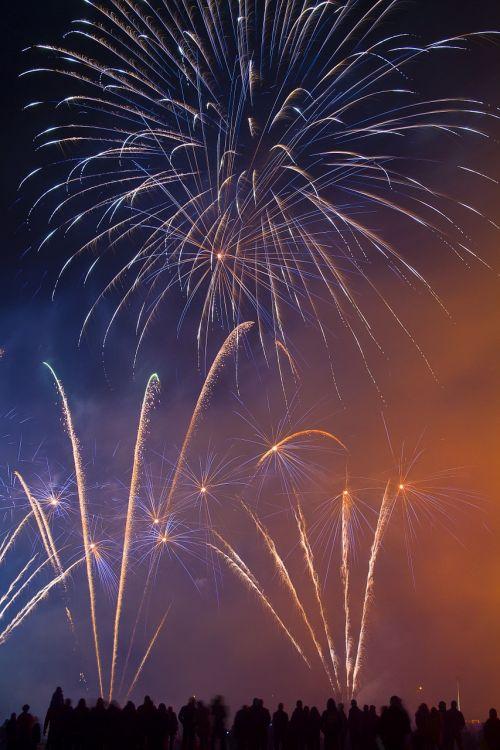 firework silvester night