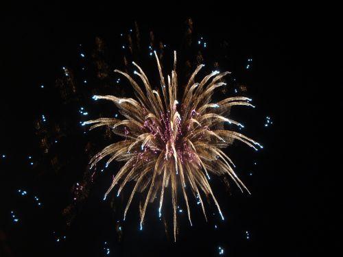 fireworks explosion shine