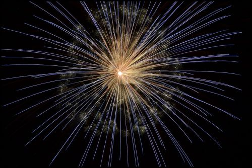fireworks new year's eve bright