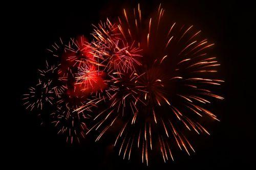 fireworks celebrate new year's eve