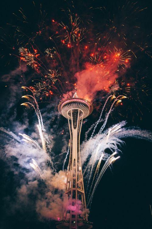 fireworks tower celebration