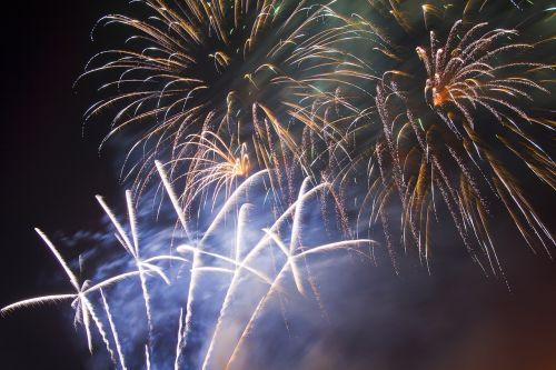 fireworks finale white