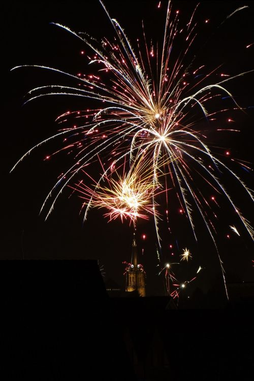 fireworks at night out