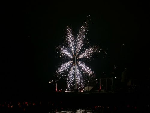 fireworks wheel of fire pyrotechnics