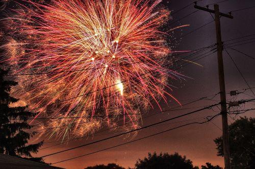 fireworks lights celebrate