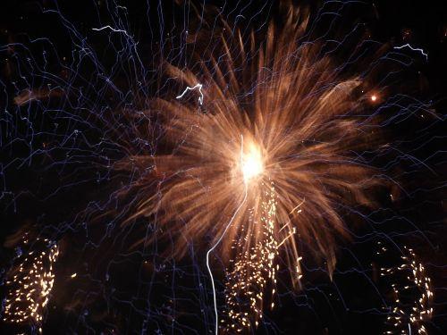 fireworks at night dark