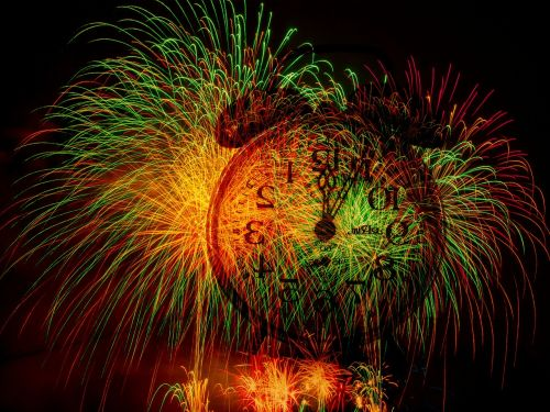 fireworks new year's day sylvester