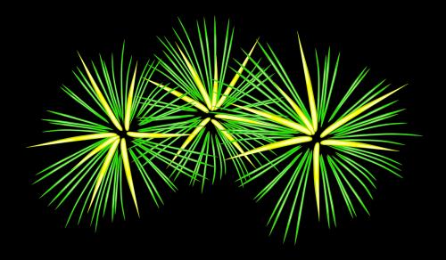 fireworks festive green