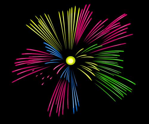 fireworks festive explosion